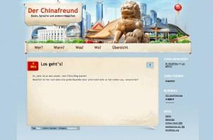 Der Chinafreund im China-Style