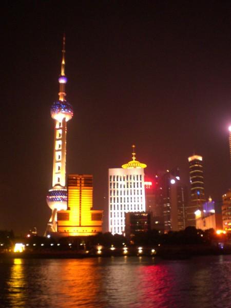 Shanghai Skyline bei Nacht