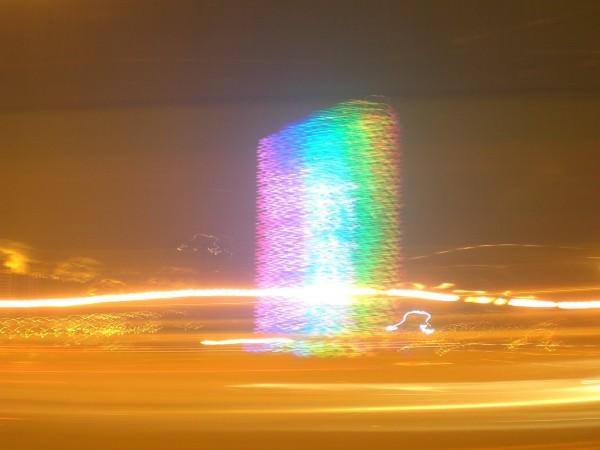 Typische Bling Bling Lichter in Shanghai