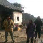 Chinesische Familie auf dem Berg