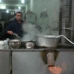 Essenszubereitung im muslimischen Viertel in Xi'an