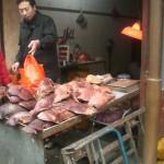 Fleisch im muslimischen Viertel in Xi'an