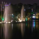 Guilin bei Nacht mit Wasser-Musik-Spektakel
