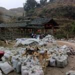 Eine Szenerie bei Pingan, die typisch für China ist
