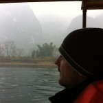 Ich während der Boots-Tour