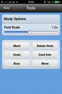 Anki App: Lerneinstellungen ändern