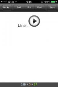 Anki App: Hörübung
