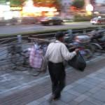 Ein Wanderarbeiter in Shanghai