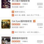 Katzen-Cafés in der Dianping-App (1)