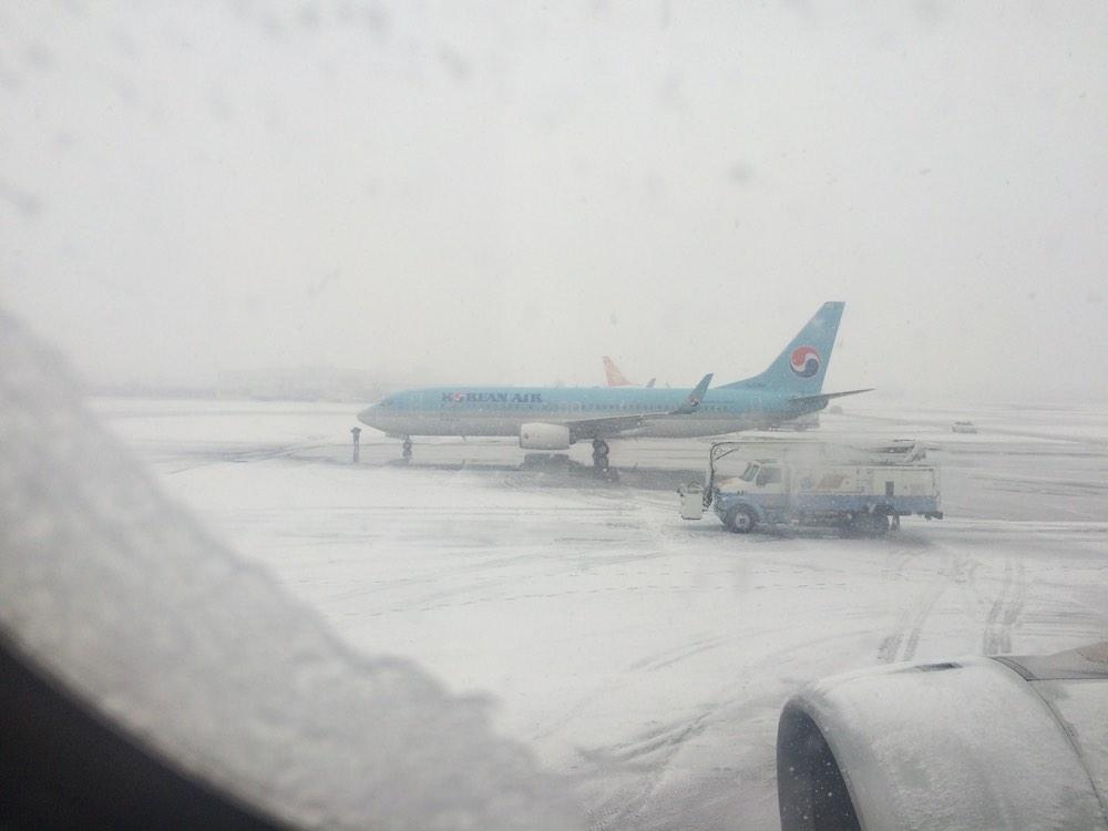 4 Stunden verspätet wegen Schneefalls